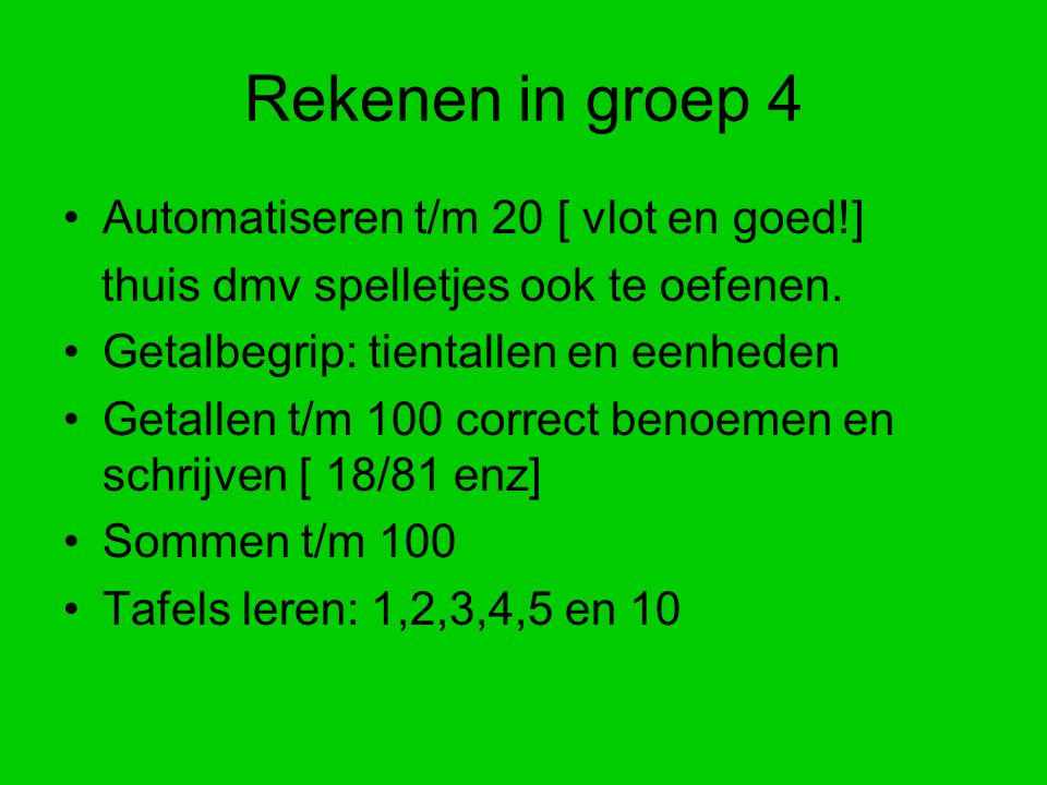 Rekenen in groep 4 Automatiseren t/m 20 [ vlot en goed!]